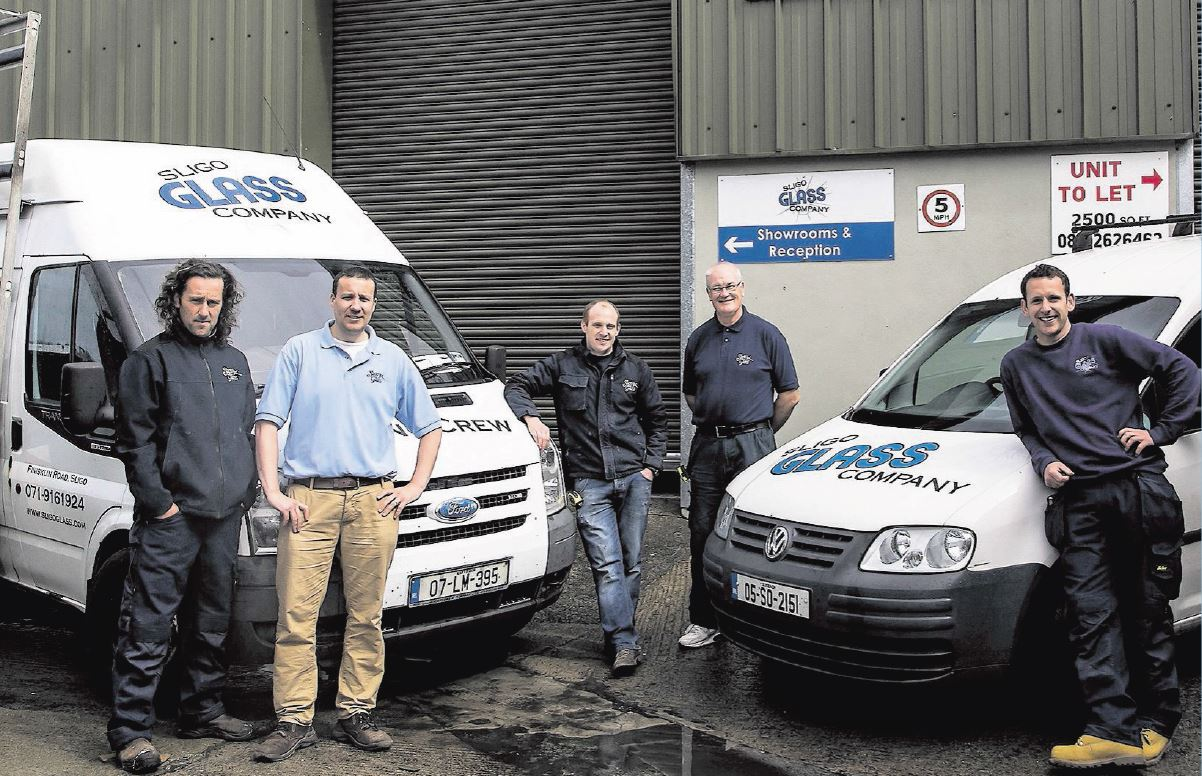 Sligo Glass team with Vans August 2014