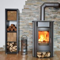 wood fired stove with Robax Glass