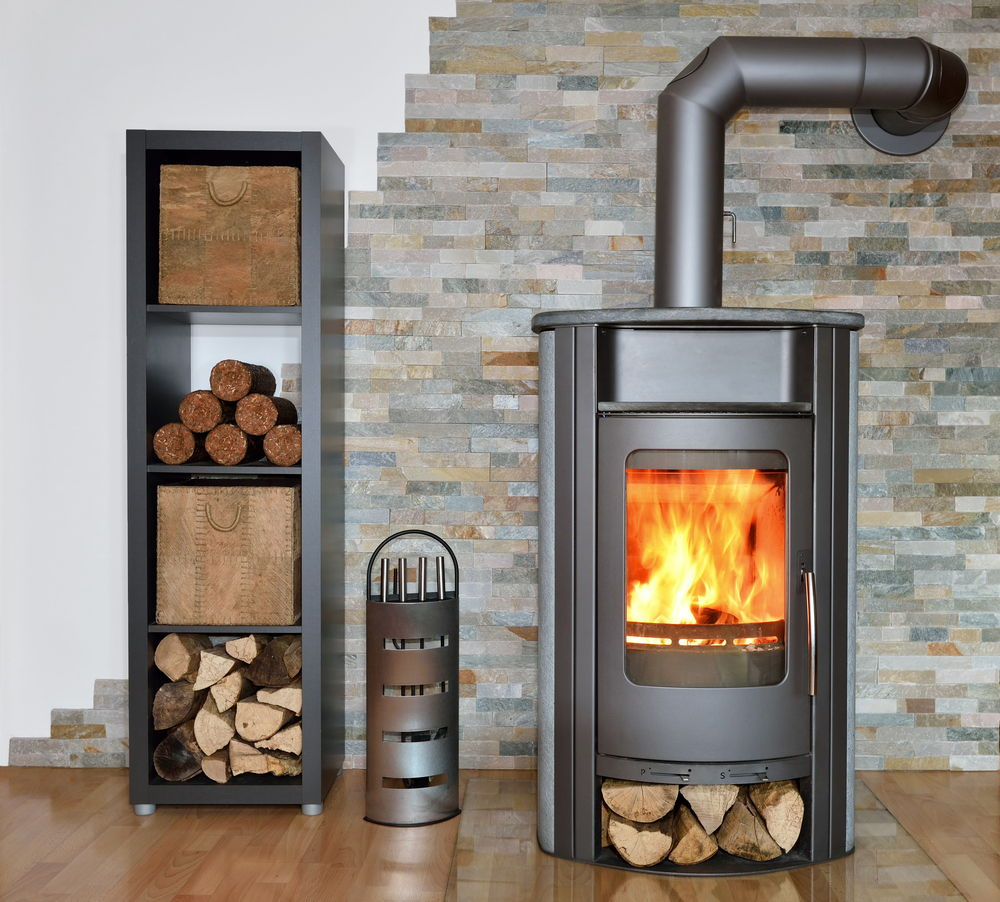 wood fired stove with Robax Glass, ceramic glass, stove glass, fireplace, livingroom, indoors, home repairs, replacement gass