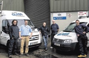 Sligo Glass team with Vans August 2014-glazing specialists
