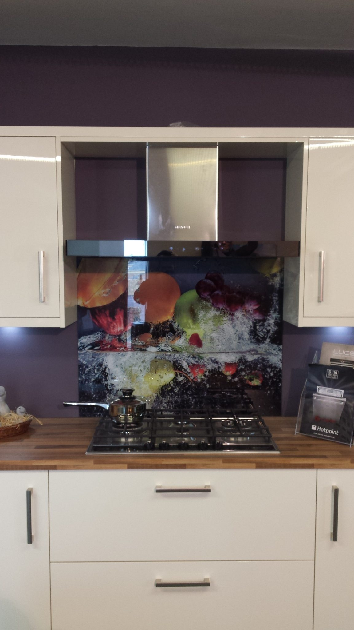 kitchen Glass Splashback with Image, colour glass, kitchen, indoors, home improvement, contemporary design, hygienic surface, heat resistant