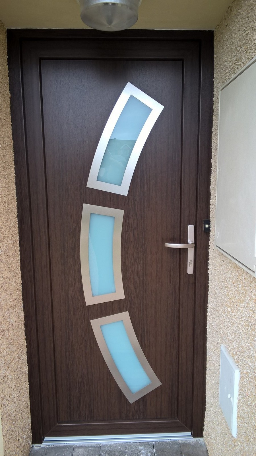 contemporary design, modern doors, dark oak doors, doors inserts, low e-glass