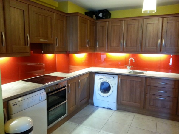 glass splashback, led light, kitchen, sligo, glass