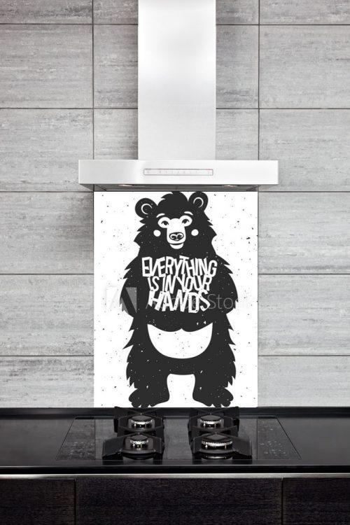 Kitchen Splashback Bear