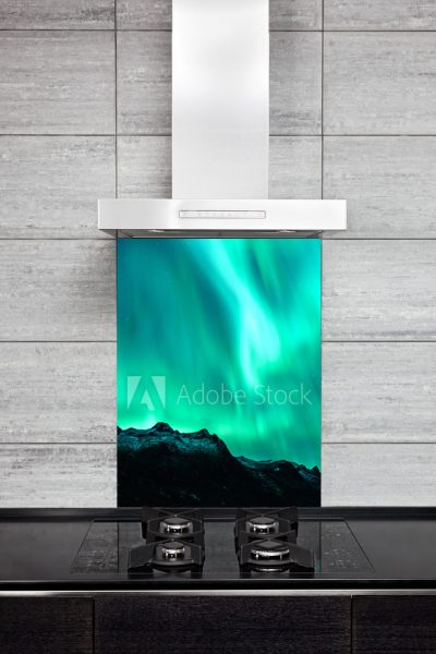 Kitchen Splashback Green Nothern Lights