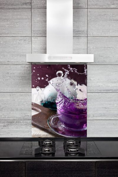 Kitchen Splash Back - Purpple Tea