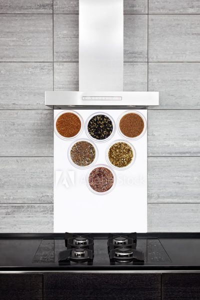 Kitchen Splashback Gliter Effect Spices