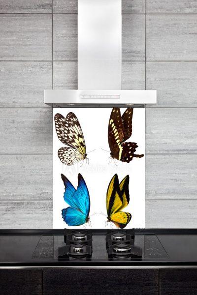 Kitchen Back Splasch - 4 Butterflies