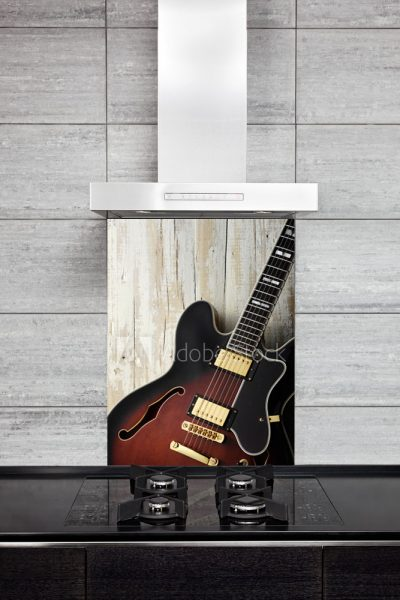 Kitchen Splashback Guitar