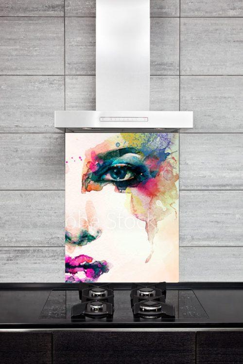 Kitchen Splash Back - Face Paint