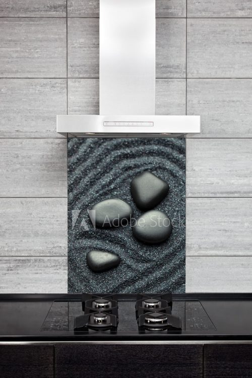 Kitchen Splashback Black Sand