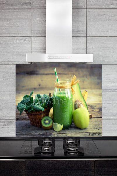 Kitchen Splashback Green Smoothie
