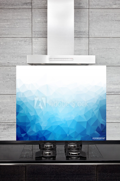 Kitchen Splashback Geometric Ice Texture