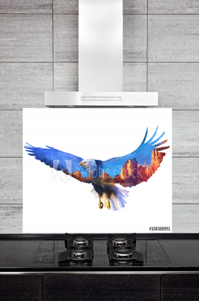 Kitchen Splashback Eagle Illustration