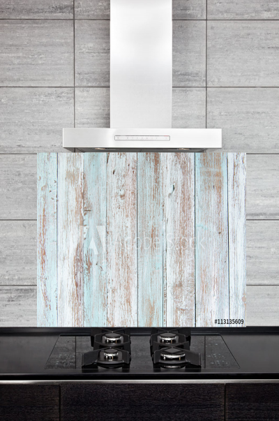 Kitchen Splashback Pastel Wood Texture