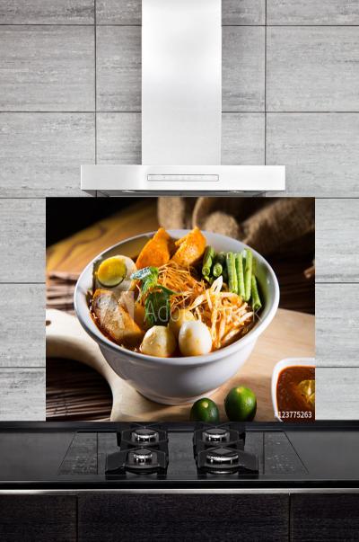 Kitchen Splashback Curry Soup