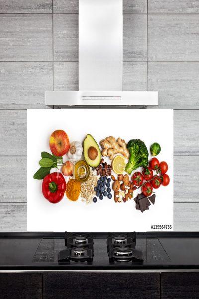 Kitchen Splashback Healthy Food