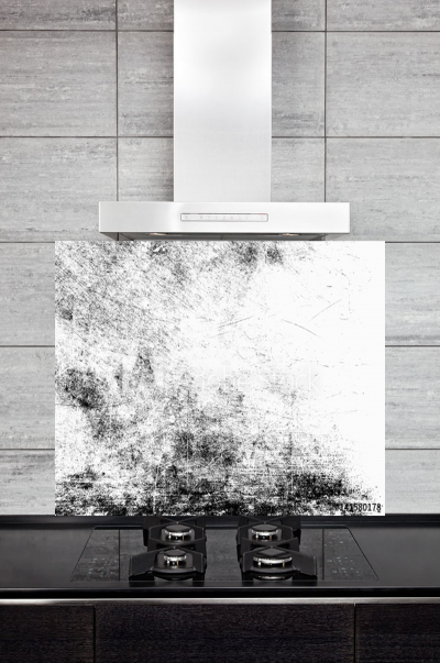 Kitchen Splashback Black and White Texture