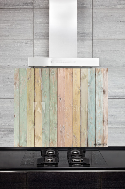 Kitchen Splashback Pastel Wood