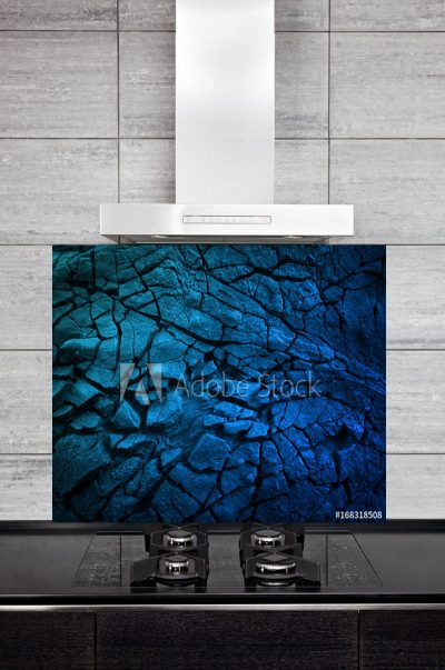 Kitchen Splashback Blue Slate Texture