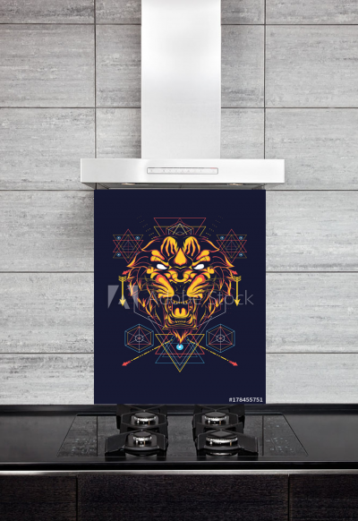 Kitchen Splashback Ornamental Lion