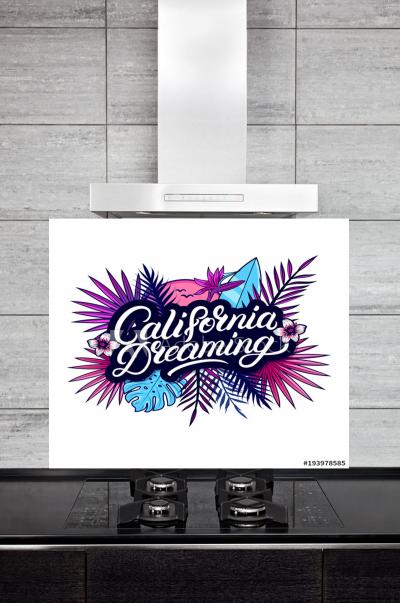 Kitchen Splashback California Dreaming