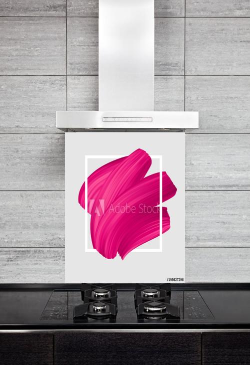 Kitchen Splashback Pink Lipstick Smear