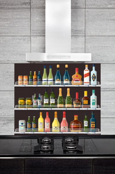 Kitchen Splashback Showcase with Alcohol
