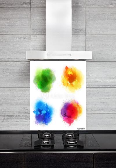 Kitchen Splashback Colorful Splashes