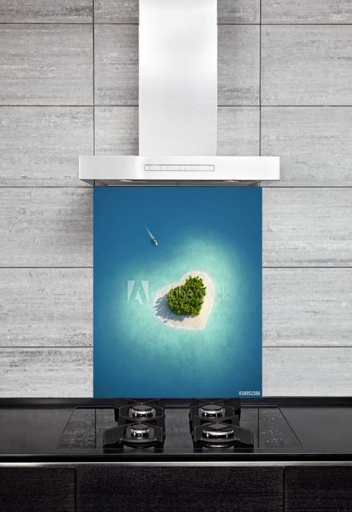 Kitchen Splashback Paradise Island