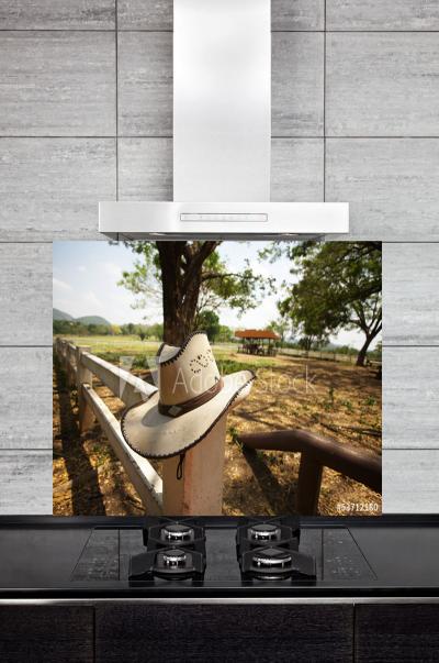 Kitchen Splashback Cowboy Hat