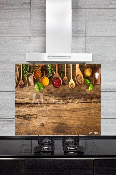Kitchen Splashback Colorful Spices