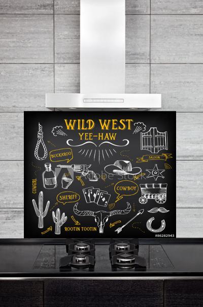 Kitchen Splashback Wild West Design