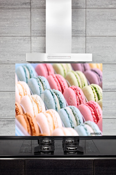 Kitchen Splashback Colorful Macarons
