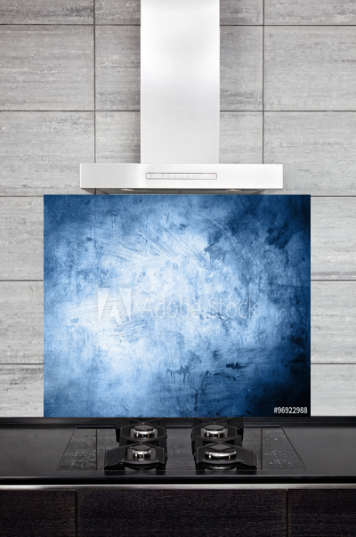 Kitchen Splashback Grunge Blue Background