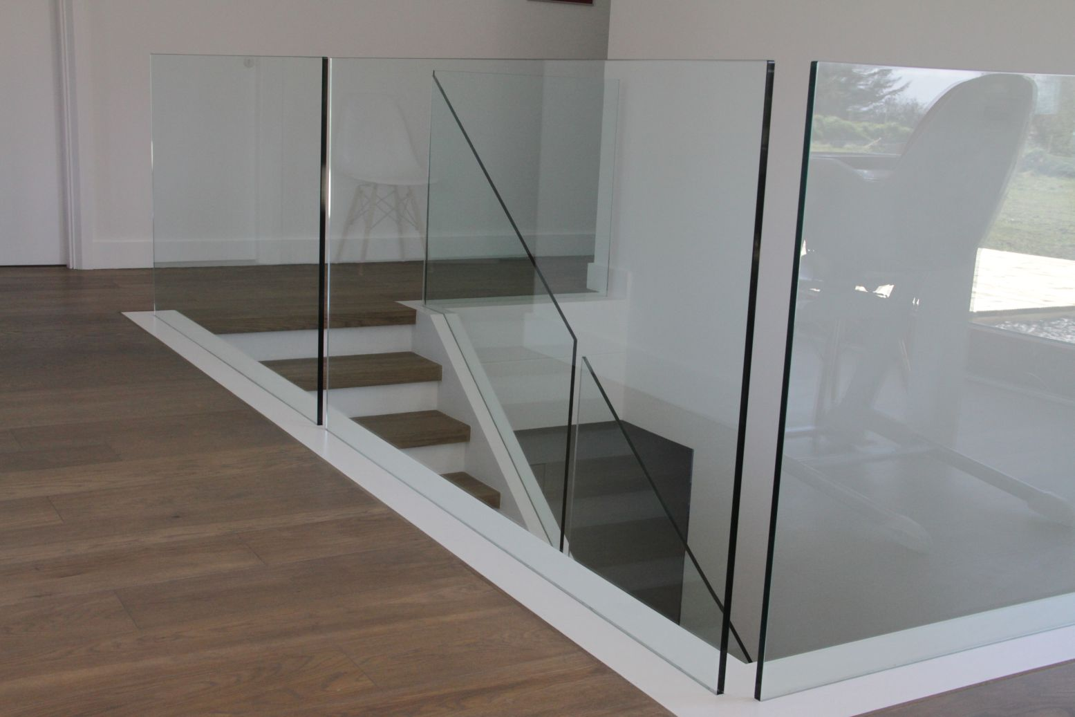 Recessed Glass on Landing